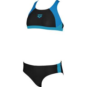 arena Ren Kaksiosainen Uimapuku Tytöt, black-pix blue-turquoise